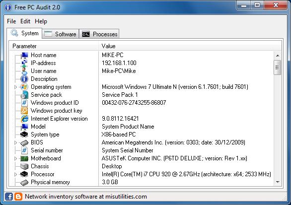 Descarga Free PC Audit